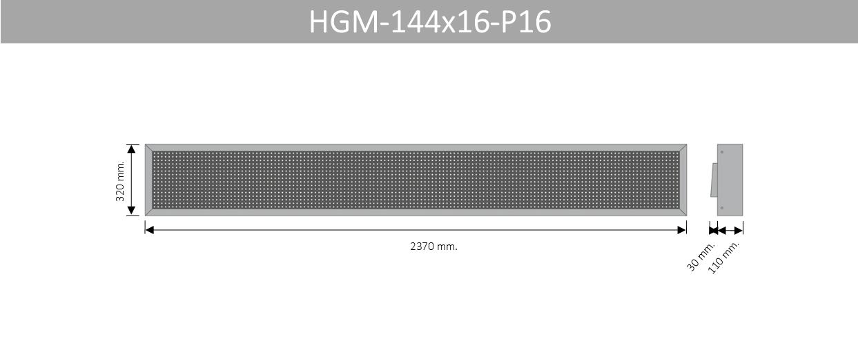 HGM 144X16 P16
