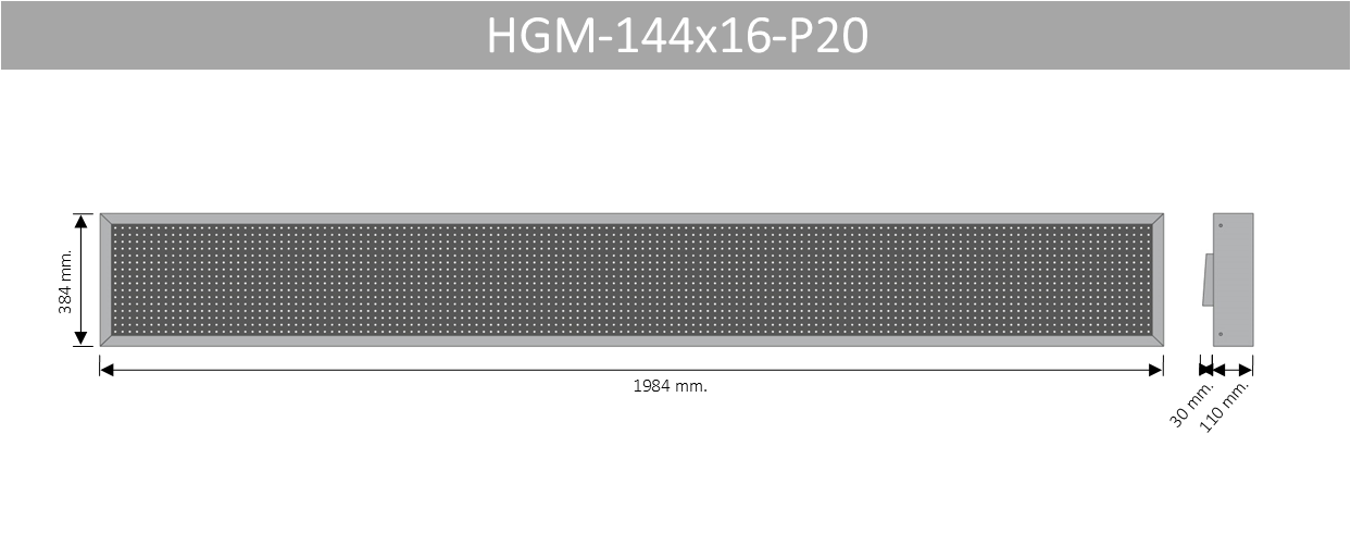 HGM 144X16 P20