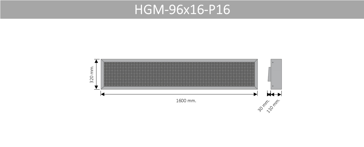 HGM 96X16 P16
