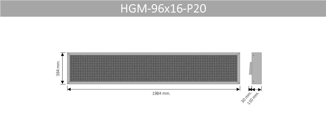 HGM 96X16 P20