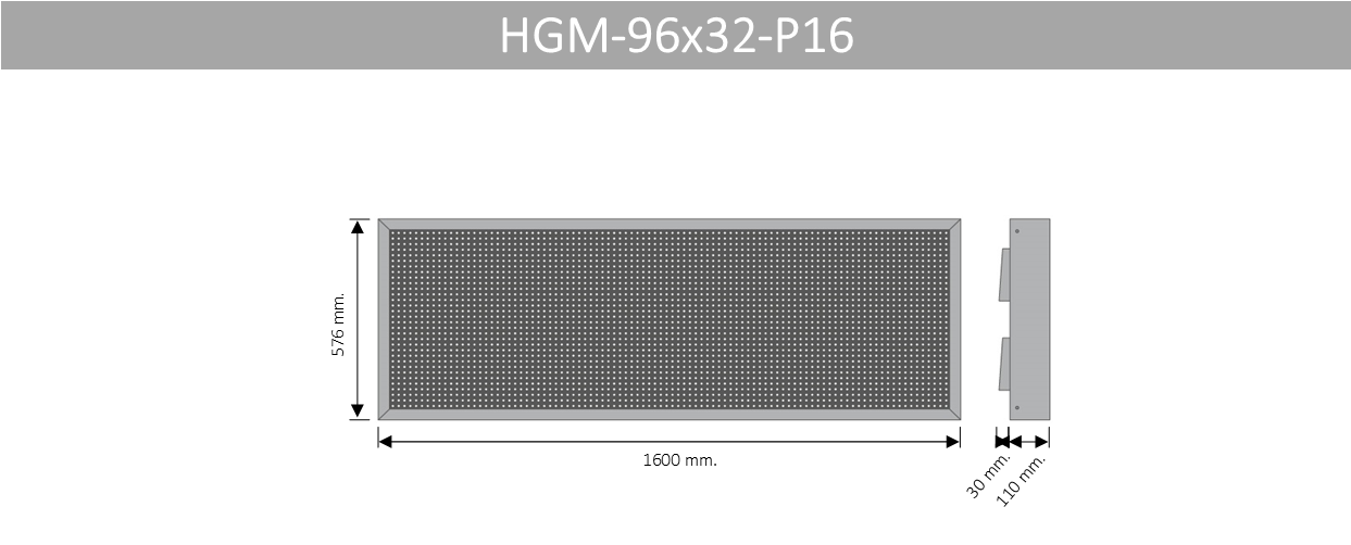 HGM 96X32 P16