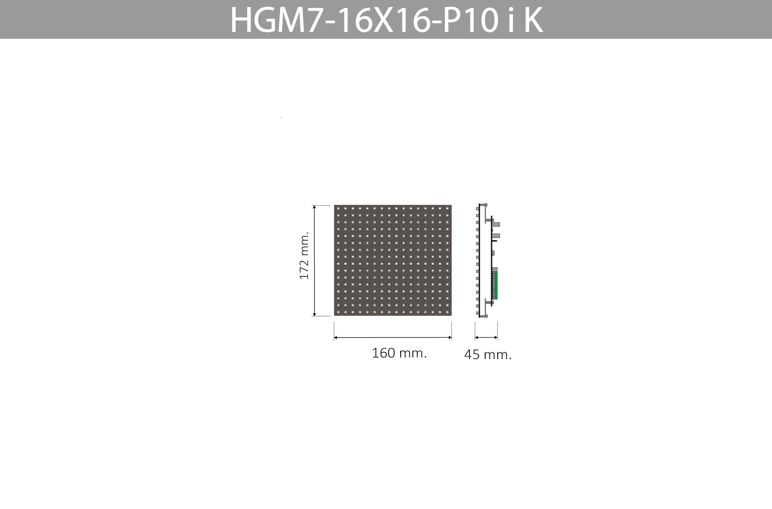 HGM7 16X16 P10 I K