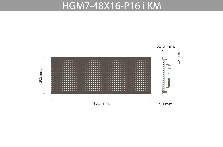 HGM7 48X16 P16 I KM