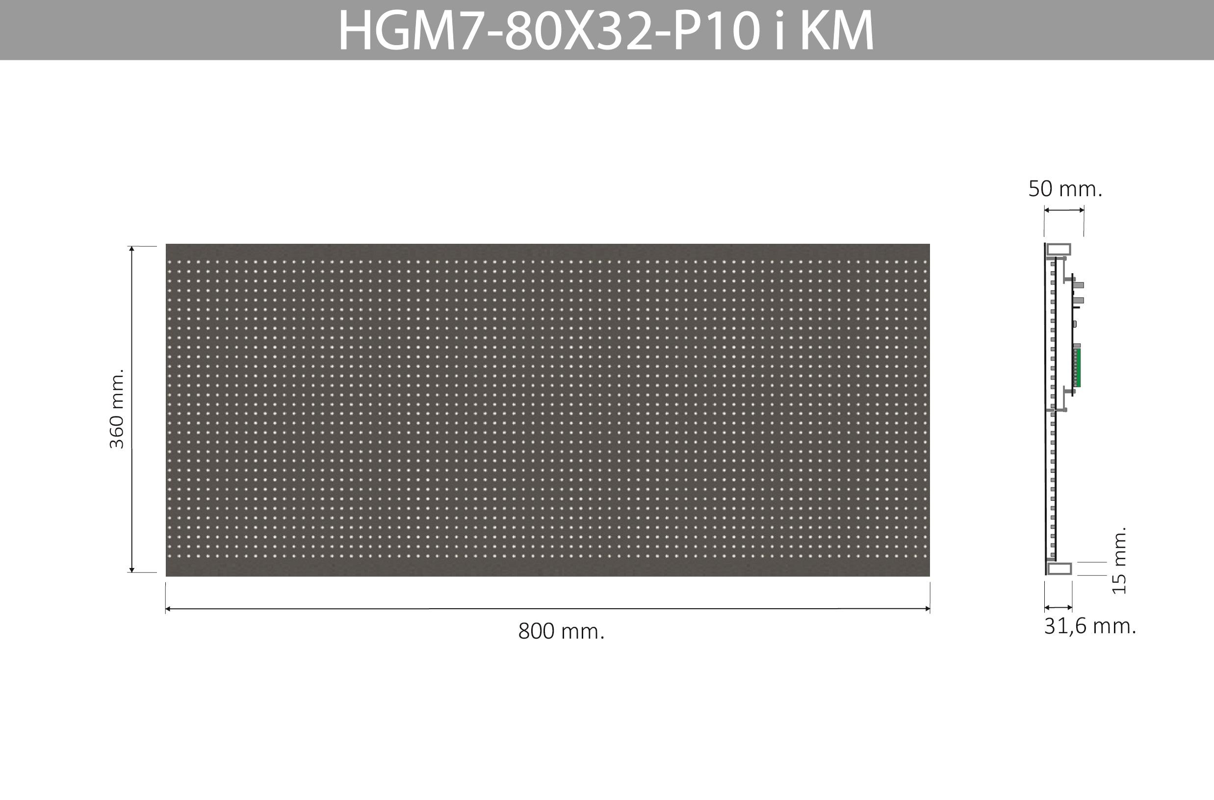 HGM7 80X32 P10 I KM