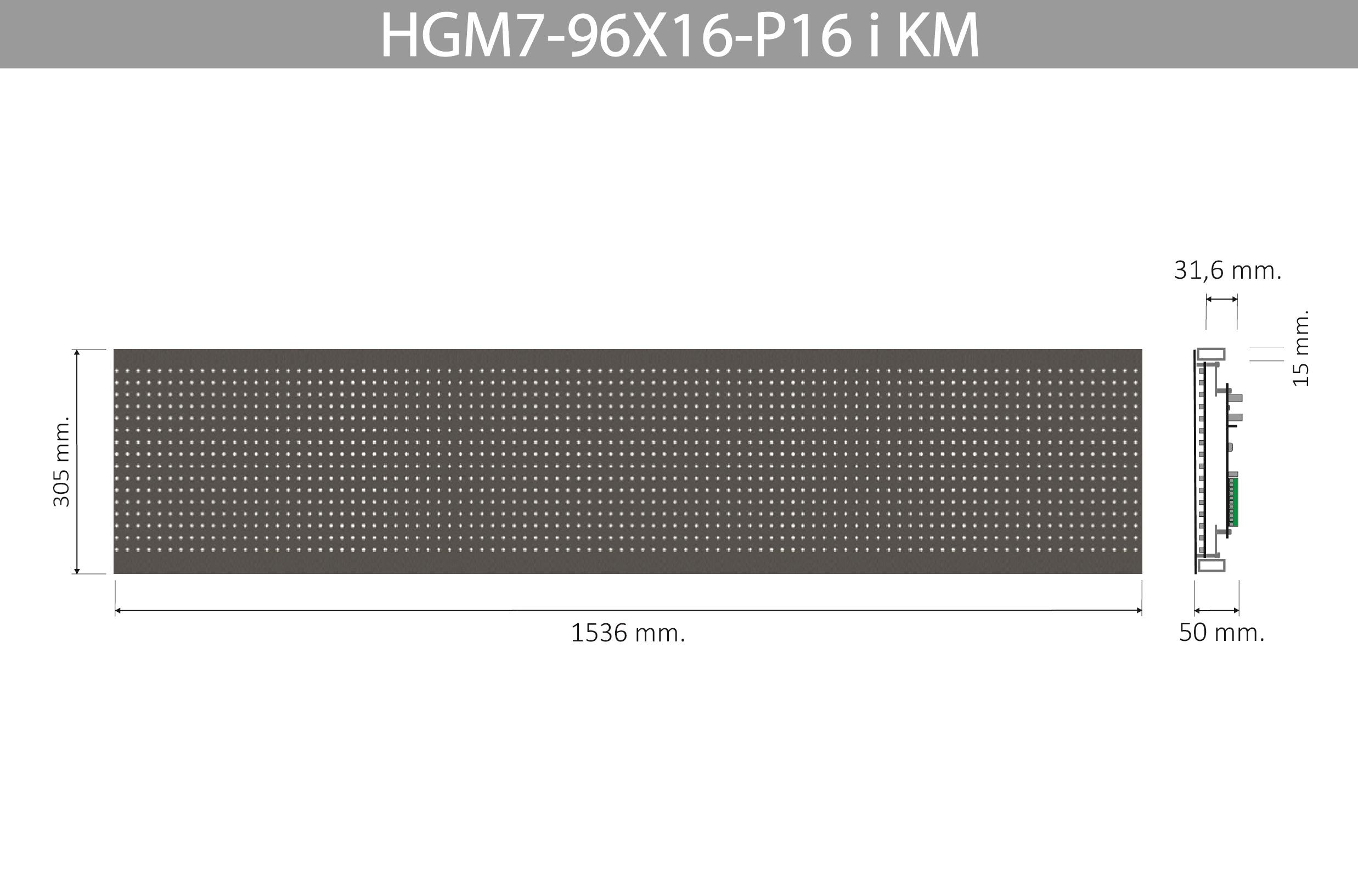 HGM7 96X16 P16 I KM