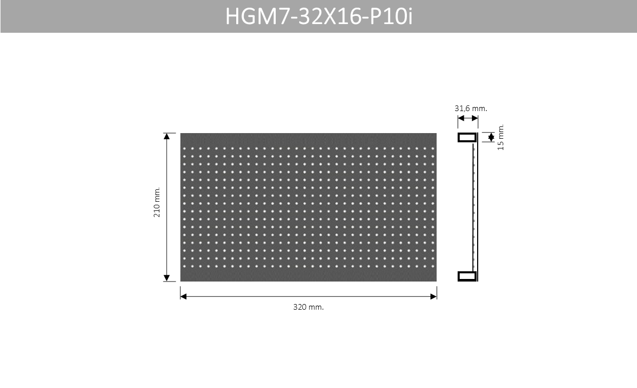 HGM7 32X16 P10i